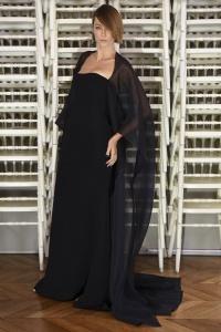Alexis Mabille vestido capa de gasa ss16 París