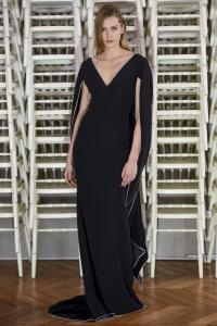 Alexis Mabille vestido capa ribetes blancos ss16 París