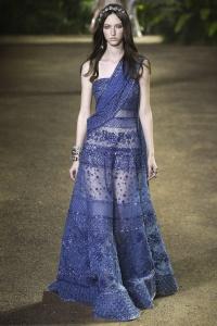 Elie Saab vestido azul ss16 París