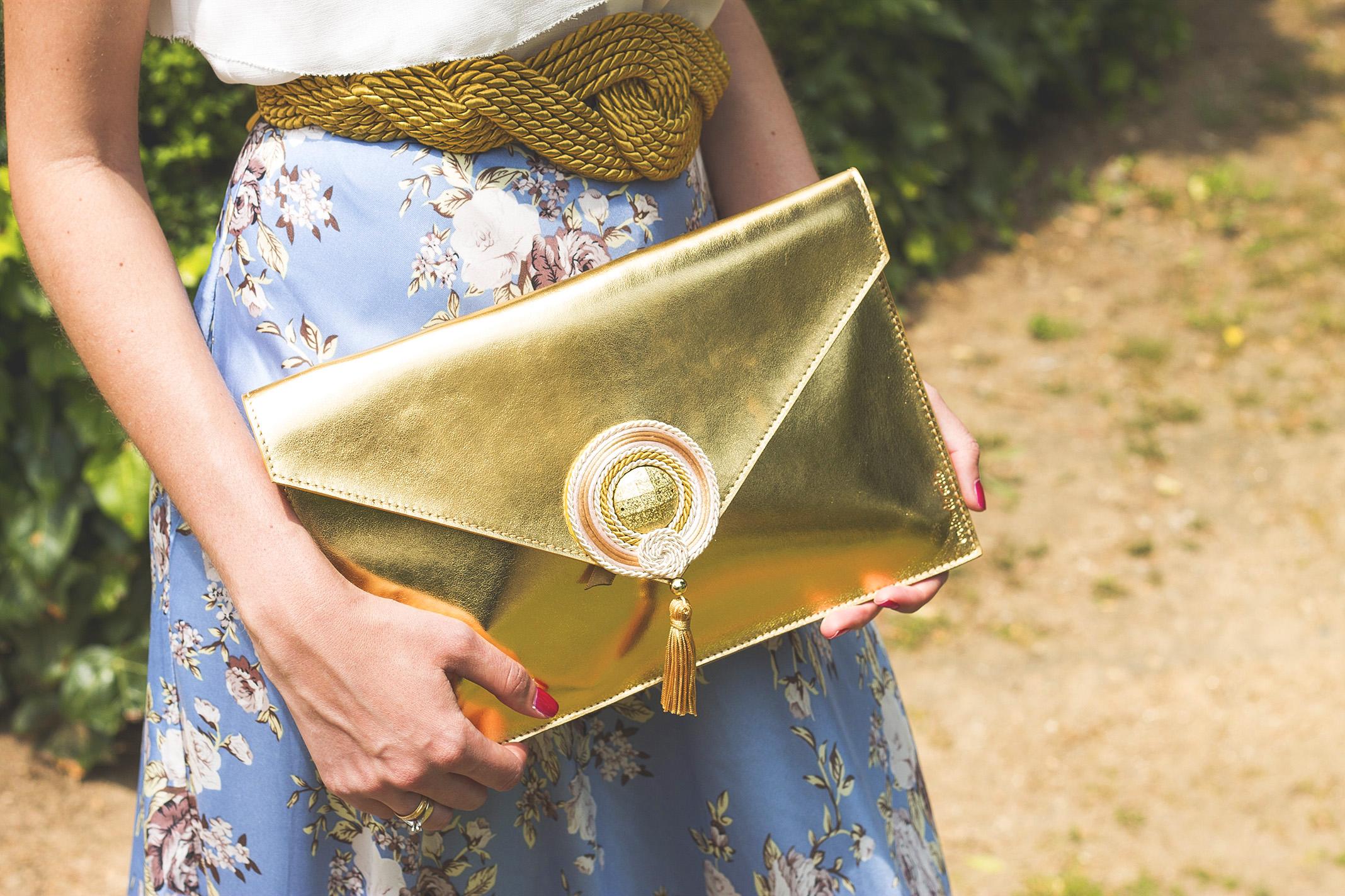 Bolso y cinturón de Cordón de Seda