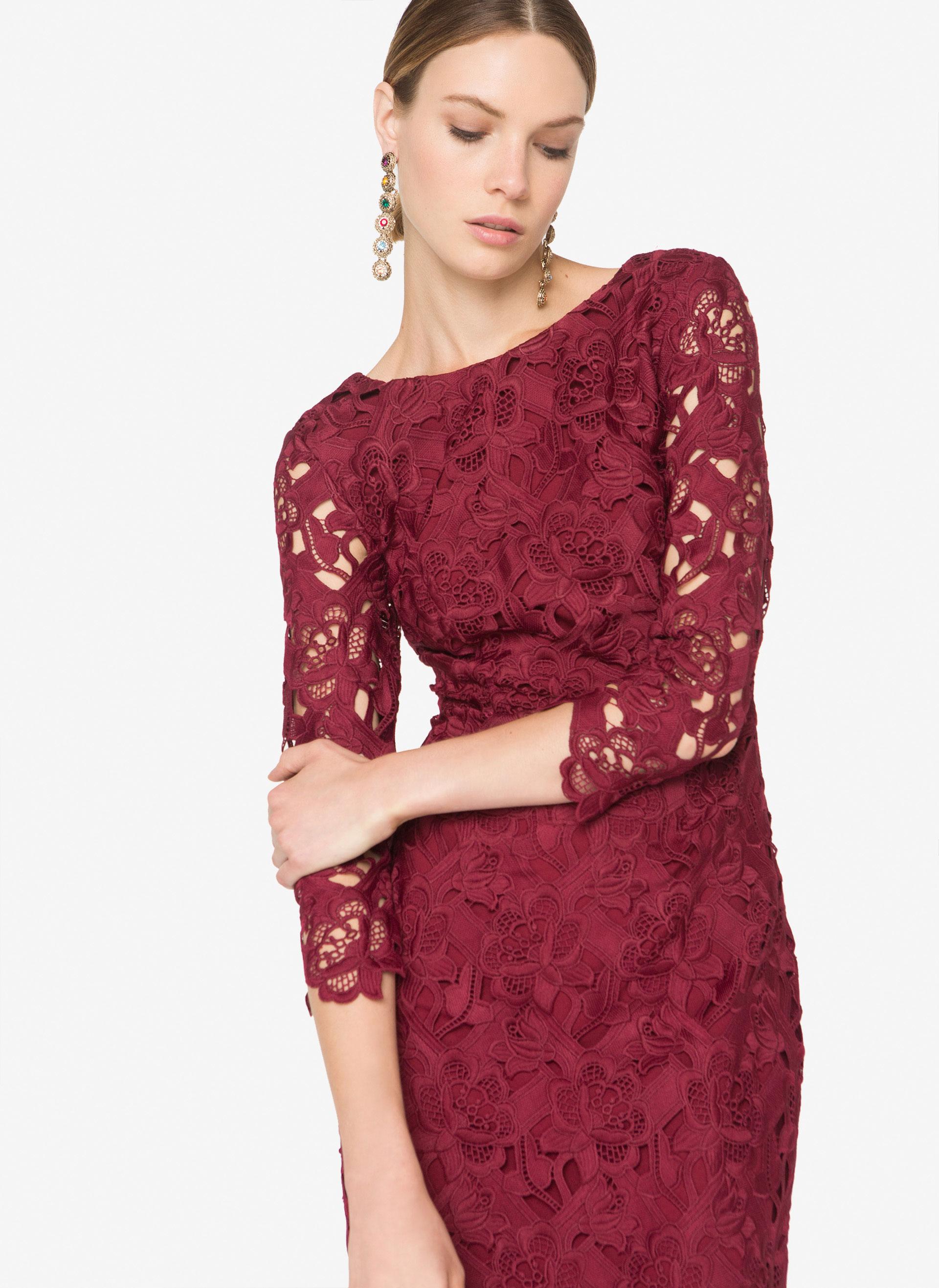 vestido invitada encaje