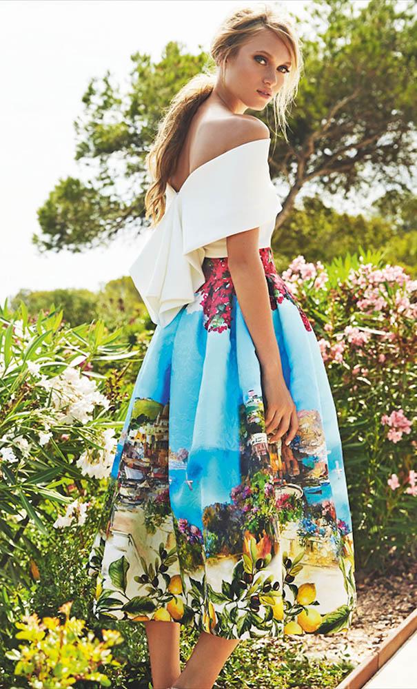 Vestido invitada falda Matilde Cano