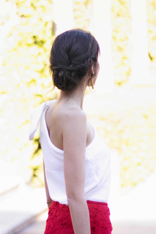 Peinado recogido trenza invitada