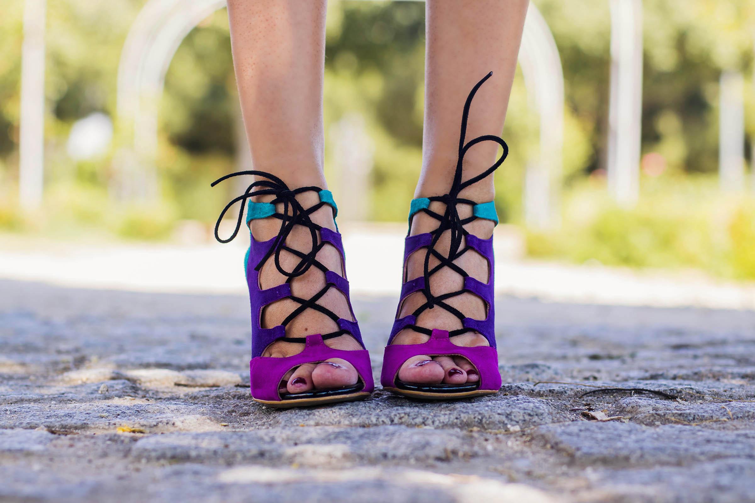 Sandalias zapatos fucsias invitada boda