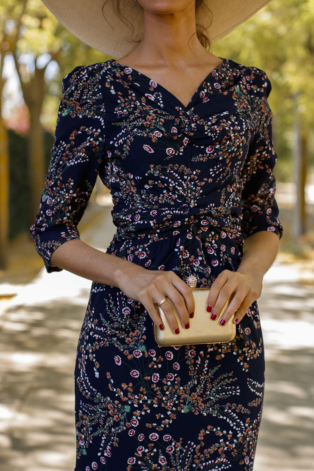 Vestido estampado Bruna invitada perfecta boda otoño