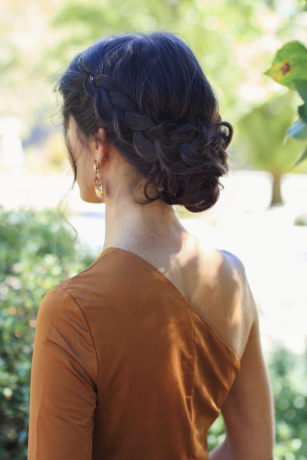 Peinado recogido treza invitadas novias