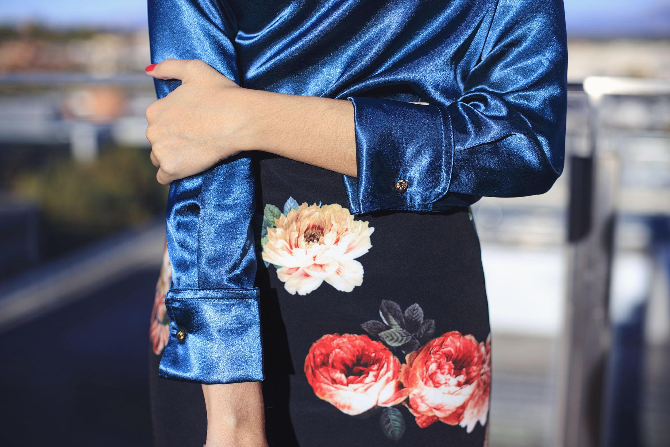 Look navidad bautizo comuniones falda flores blusa