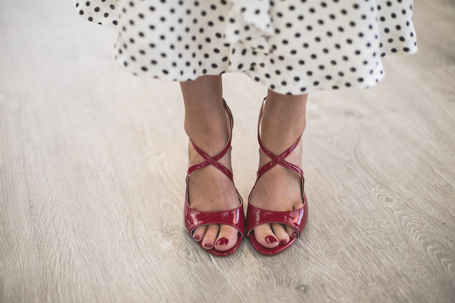 Zapatos sandalias fiesta rojas