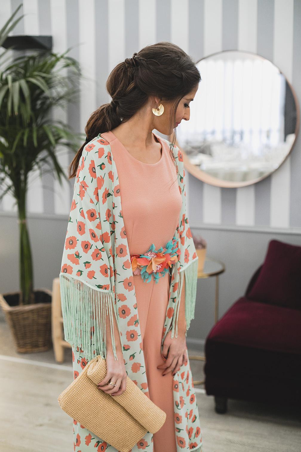Look invitada 2018 boda bautizo comunion mono espalda kimono lowcost