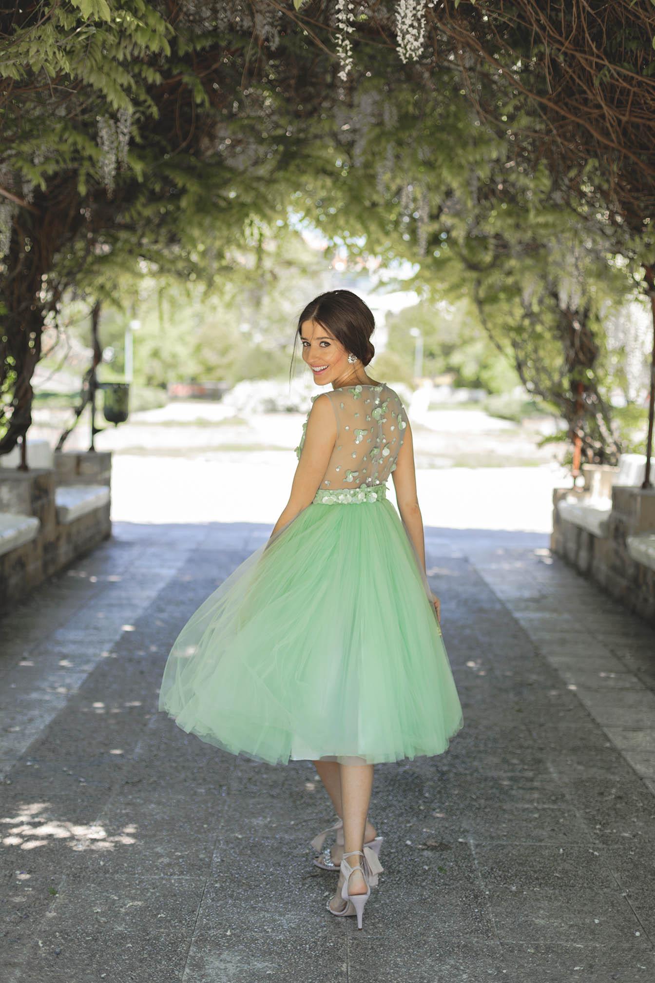 Invitada perfecta 2018 falda vestido tul boda bgo me vestido fiesta mint hermana novia