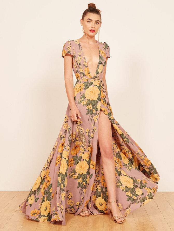 lista de deseos invitada perfecta blog vestido largo estampado