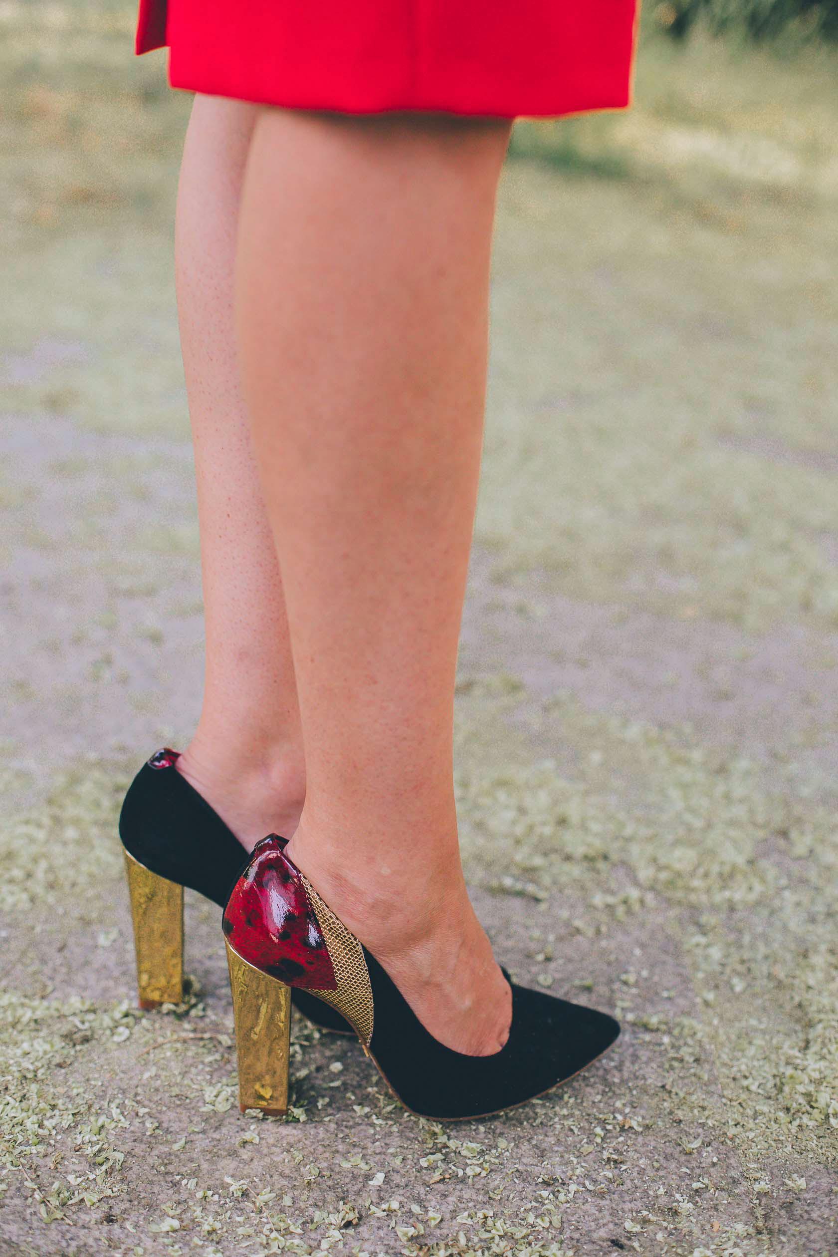 Zapatos invitada boda tacon ancho