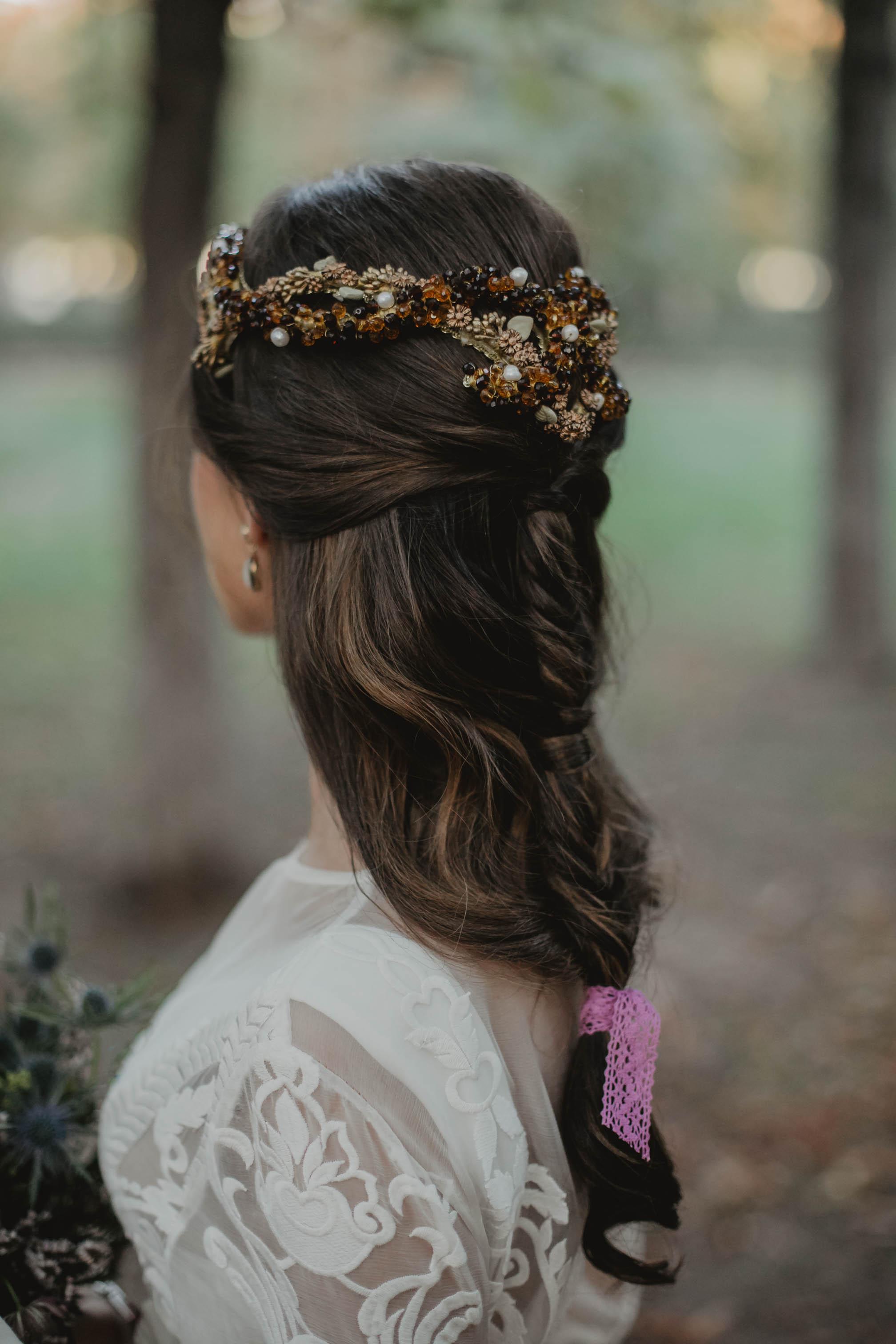 peinado novia trenza desecha mg beauty marta gamarra