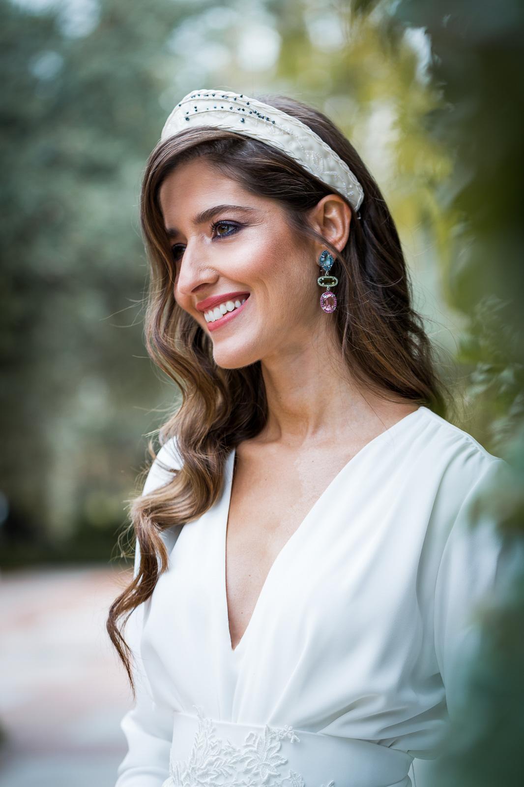 Pendientes novia personalizados rosa azul customima