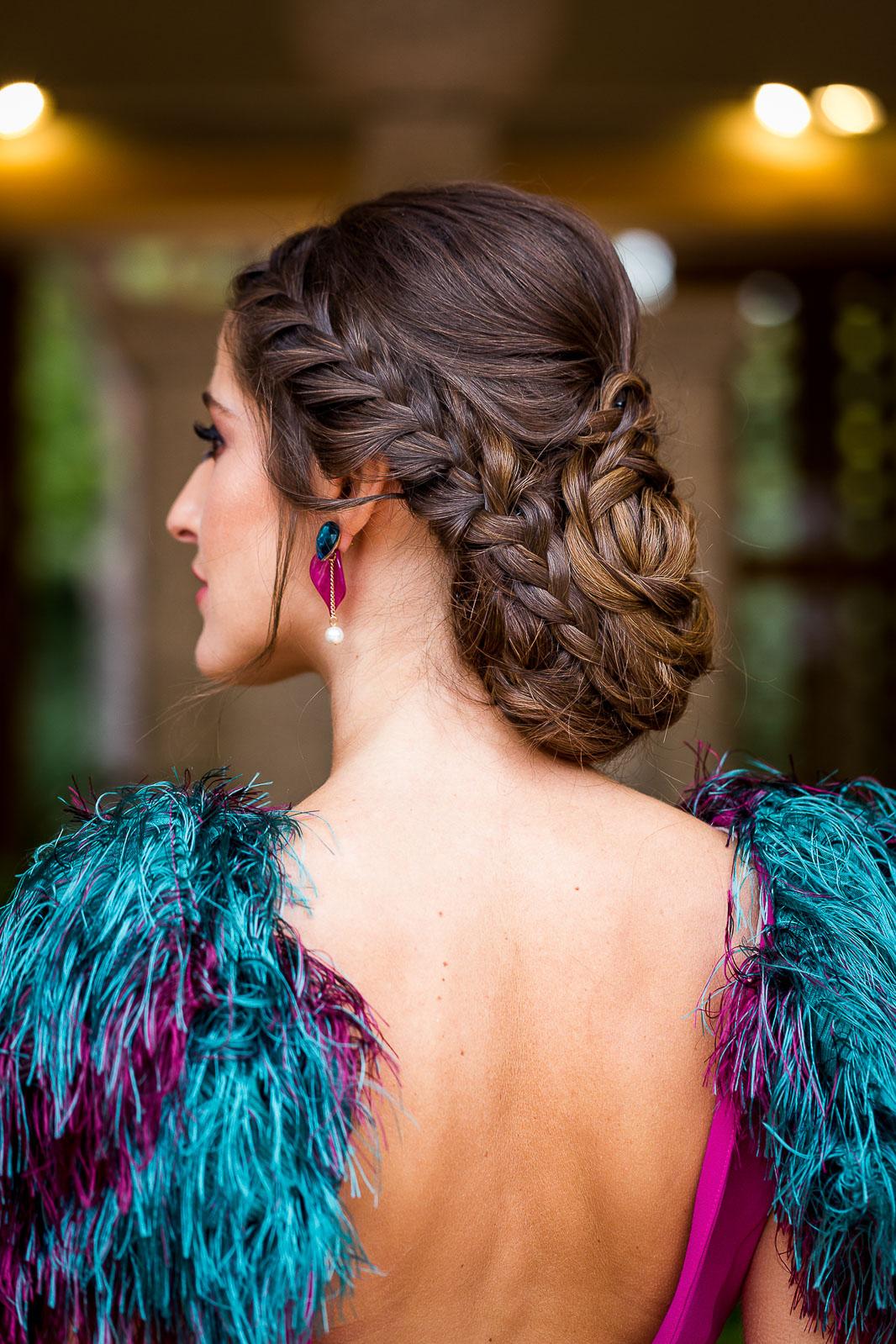 Peinado novia invitada trenza recogido bajo