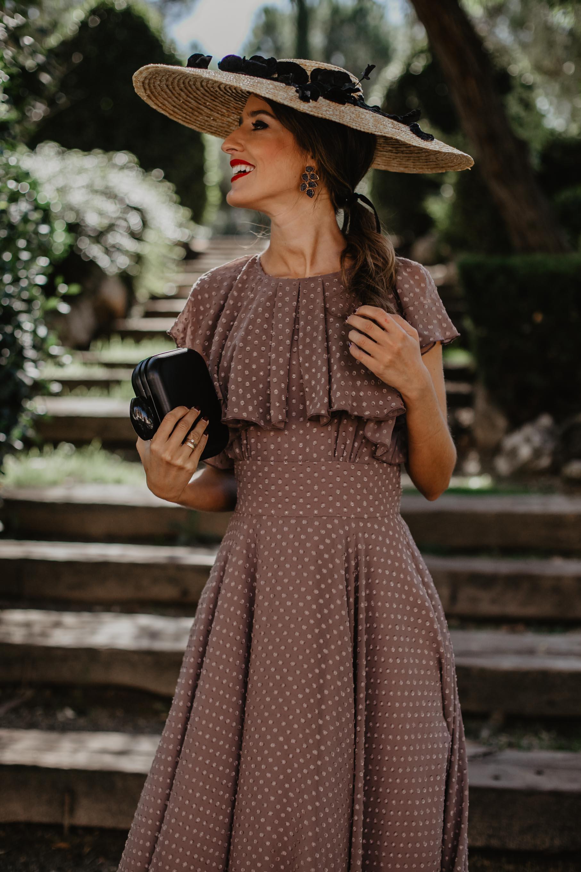 Look invitada bautizo comunion vestido