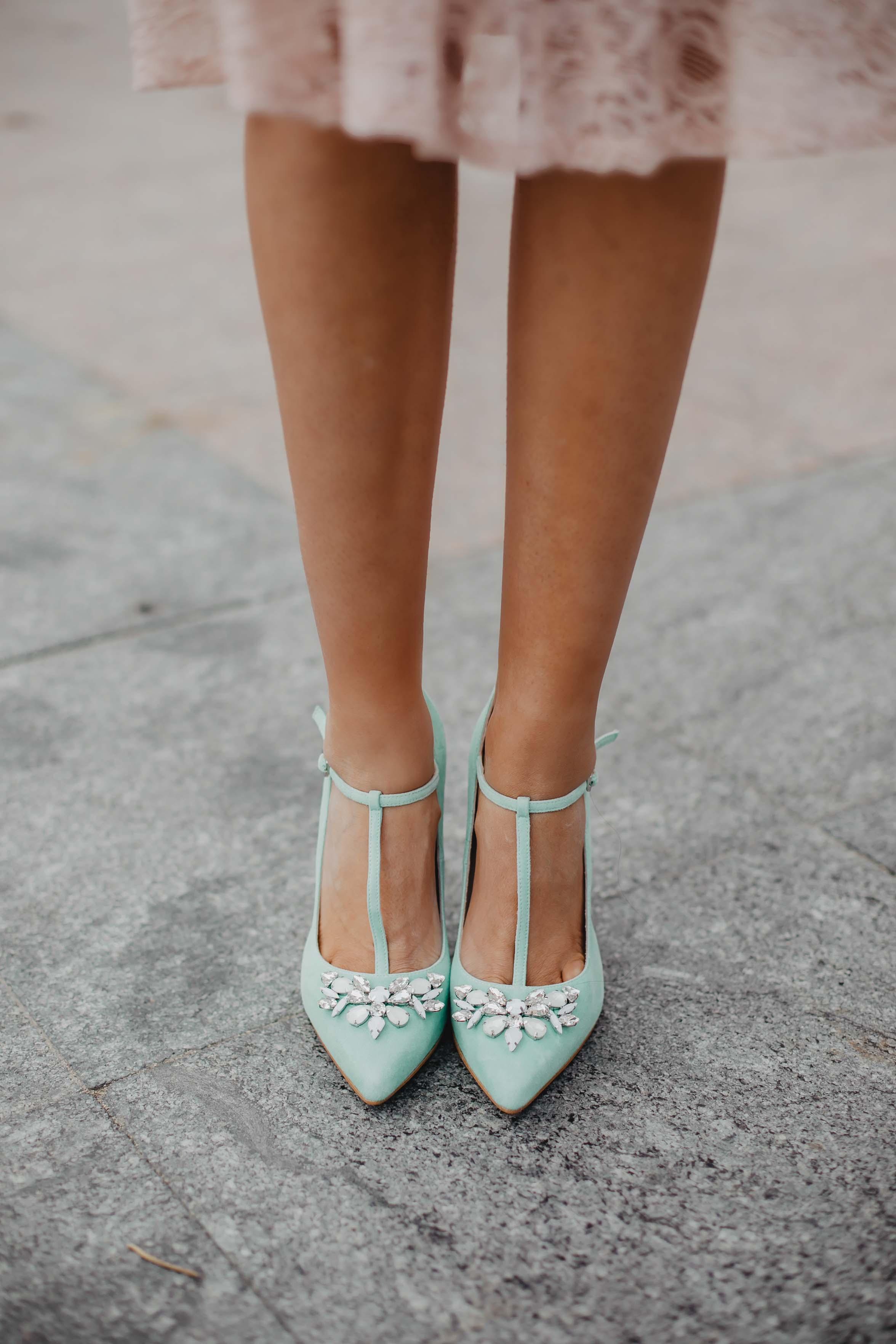 Zapatos verde agua mint invitada novias
