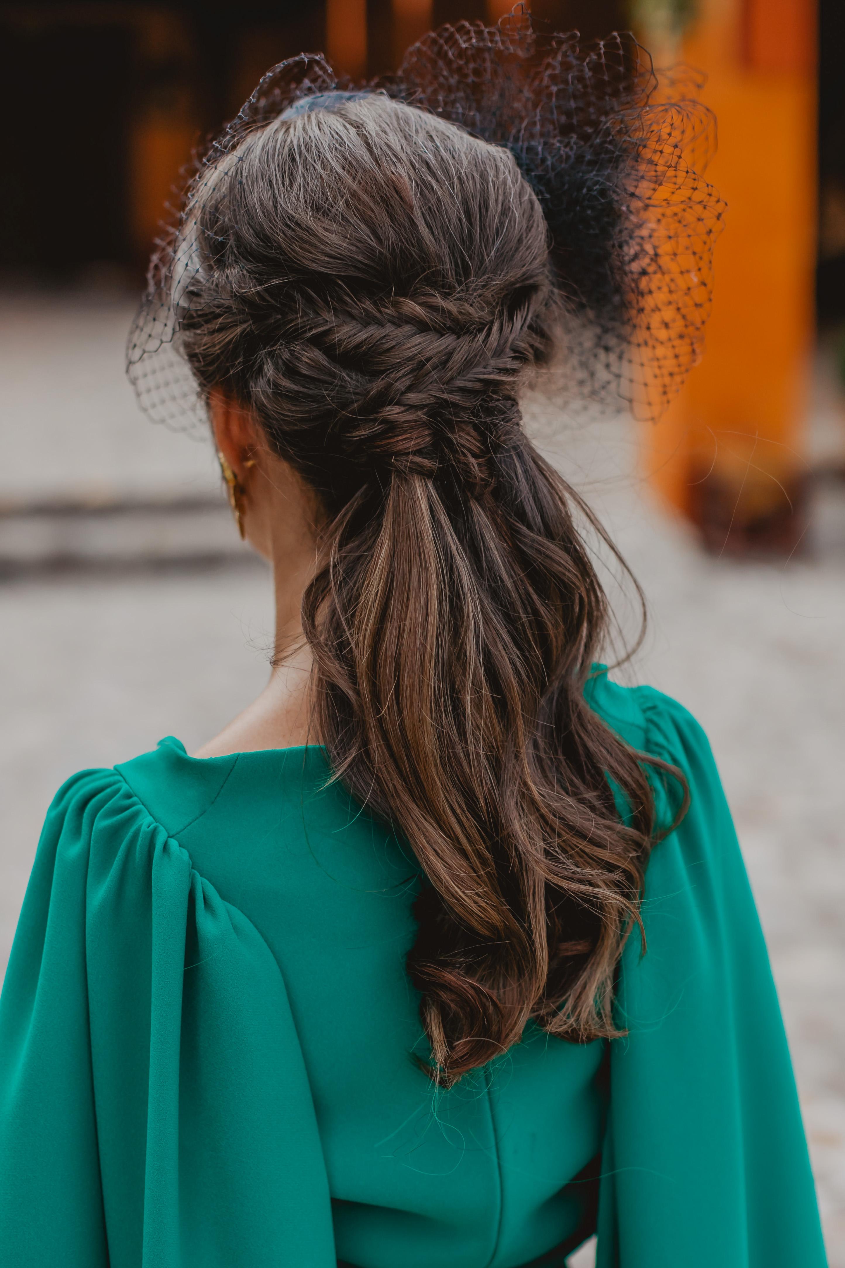 peinado invitada novia 2019 coleta trenza