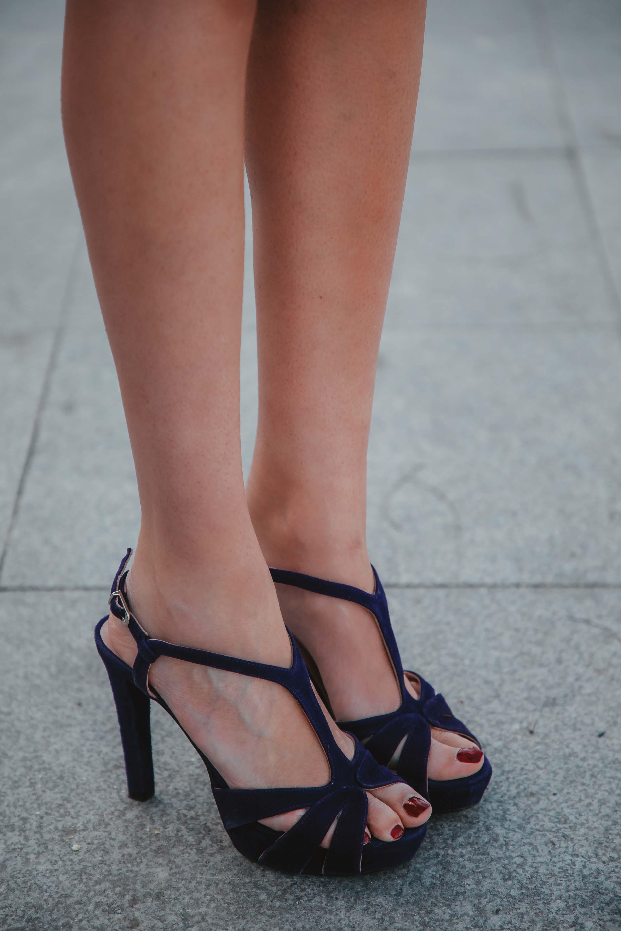 Zapatos morados invitada nuria cobo