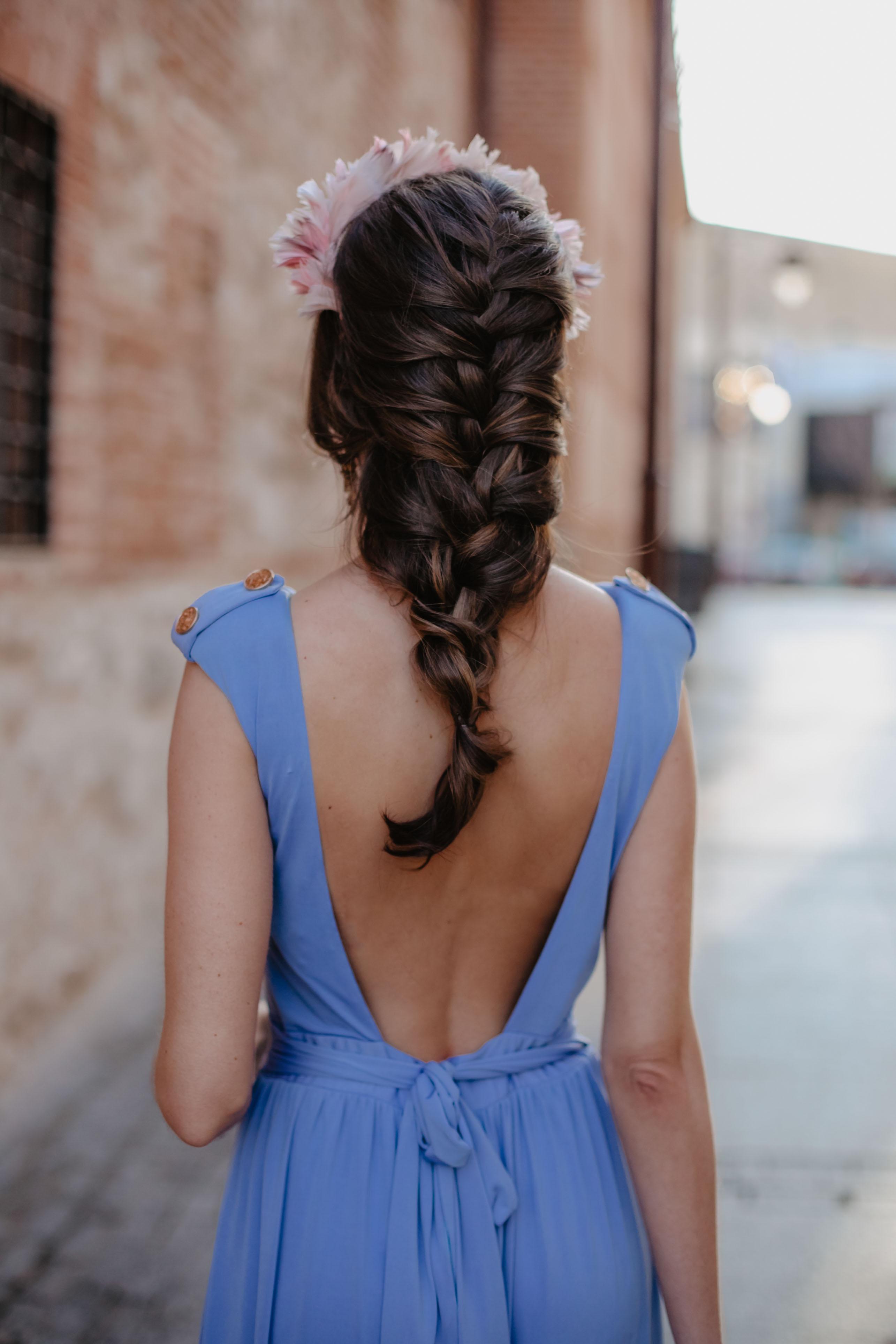 trenza desecha peinado invitada novia