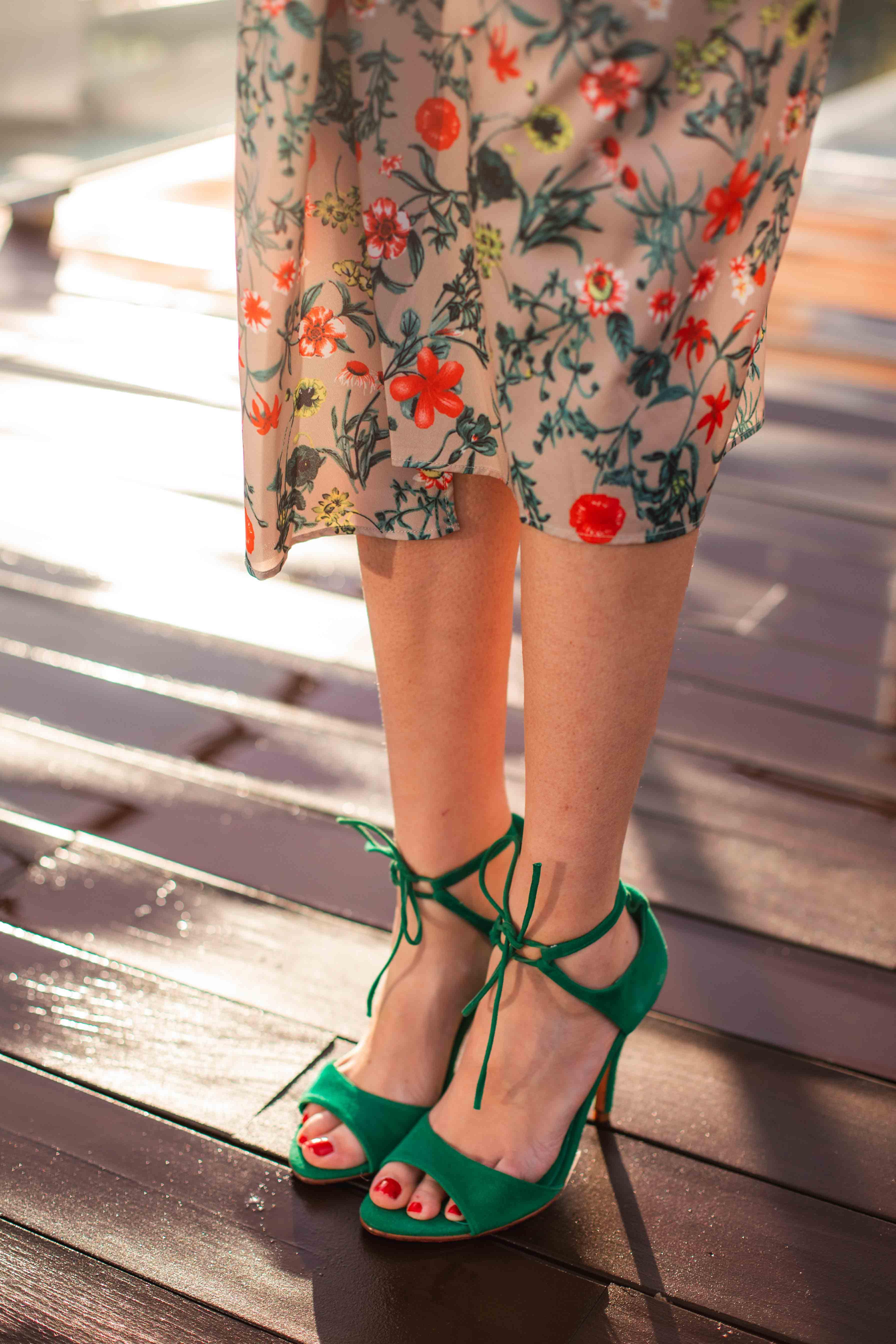 sandalias verdes invitada boda