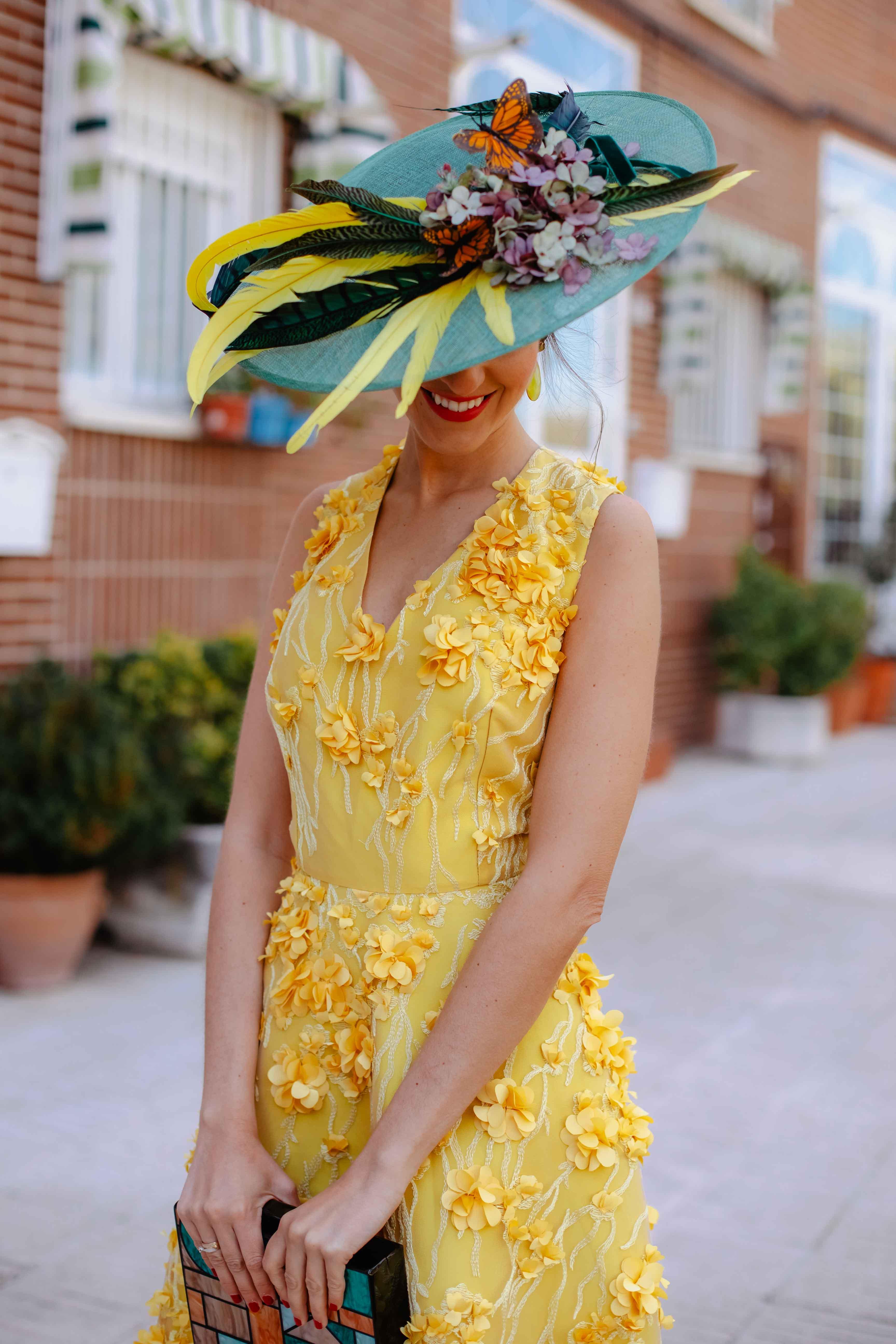 Vestido amarillo flores pamela