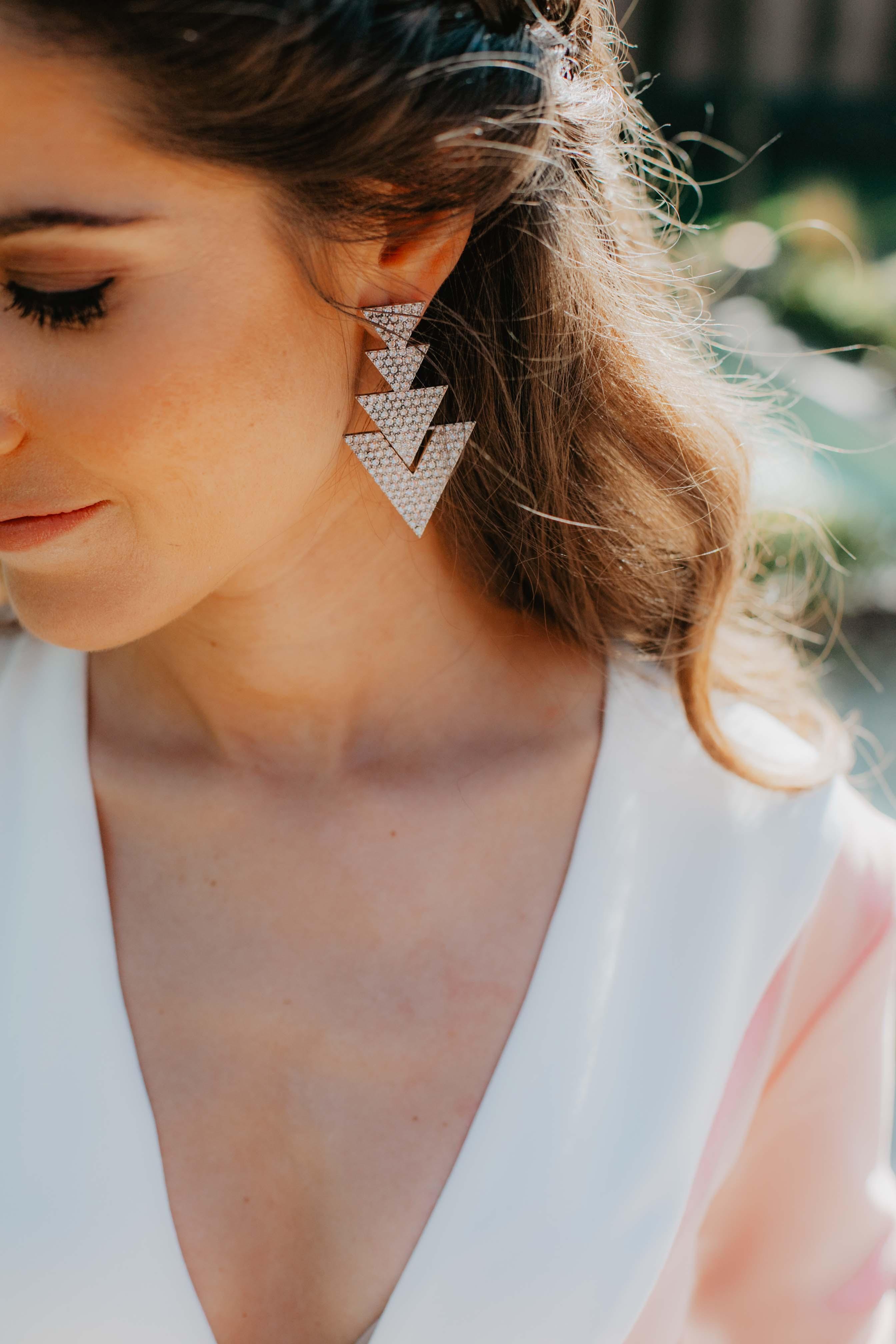 Pendientes plata invitada novia
