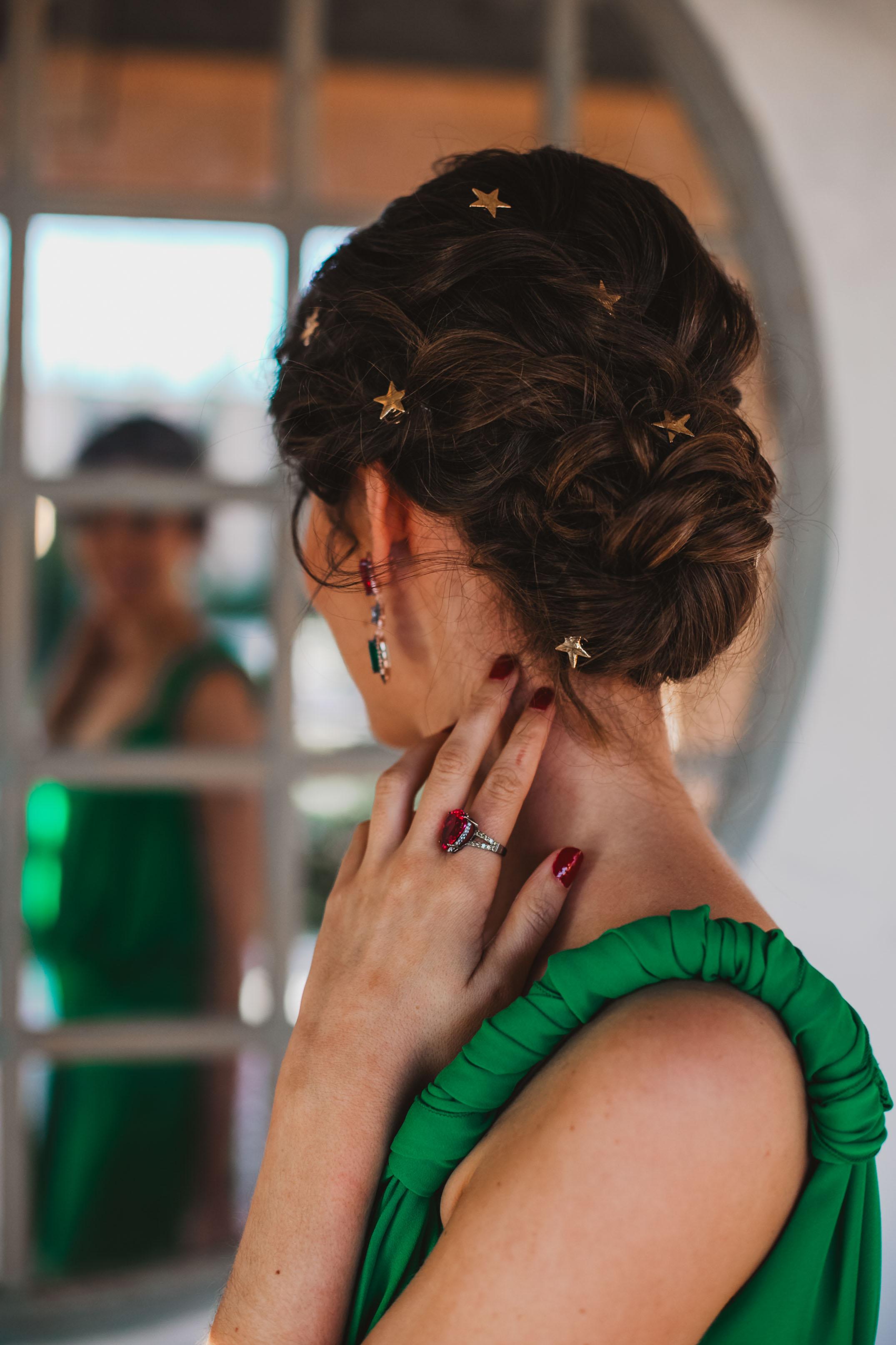 peinado recogido estrellas invitada novia
