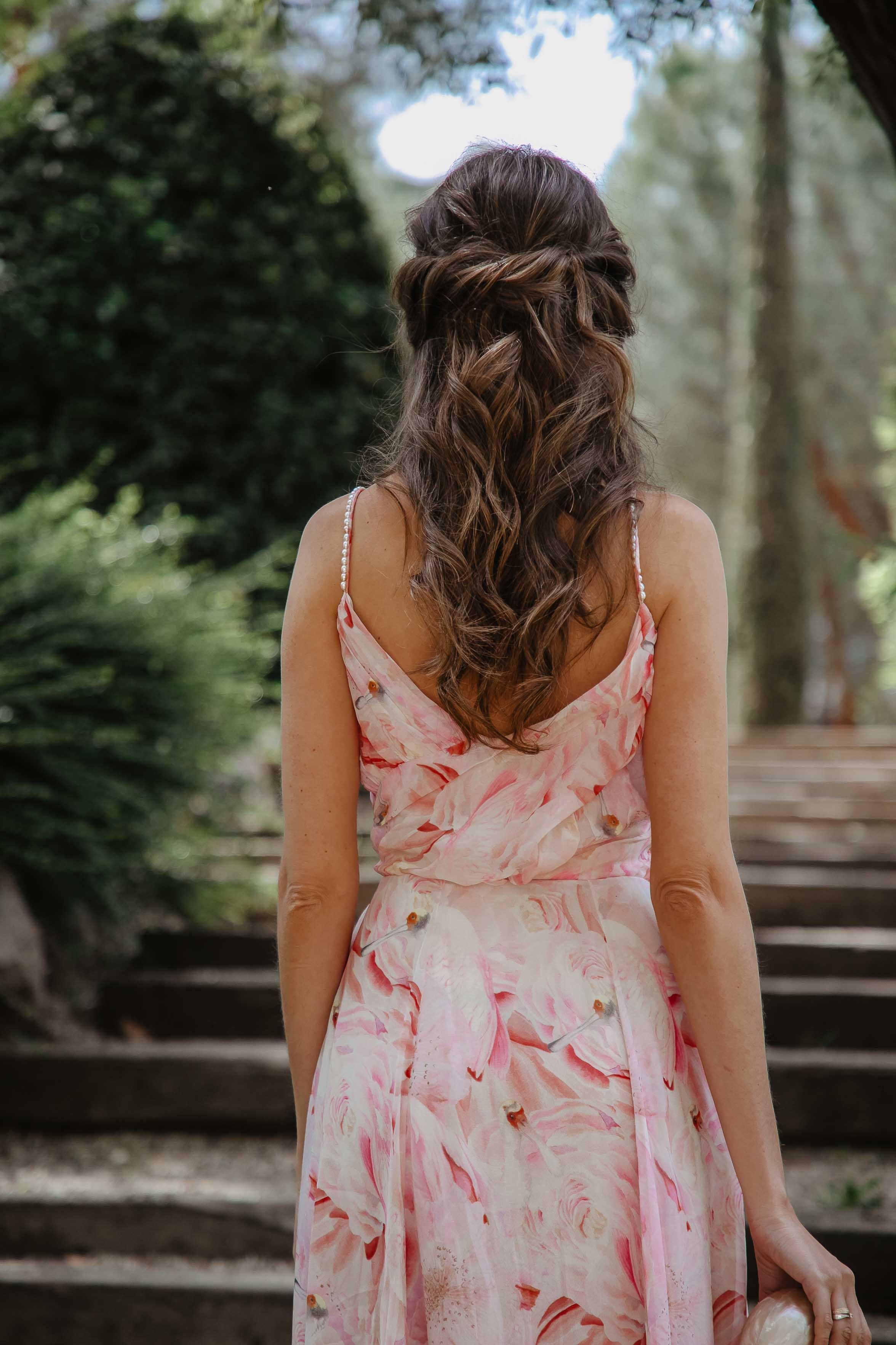 Peinado semirecogido invitada novia