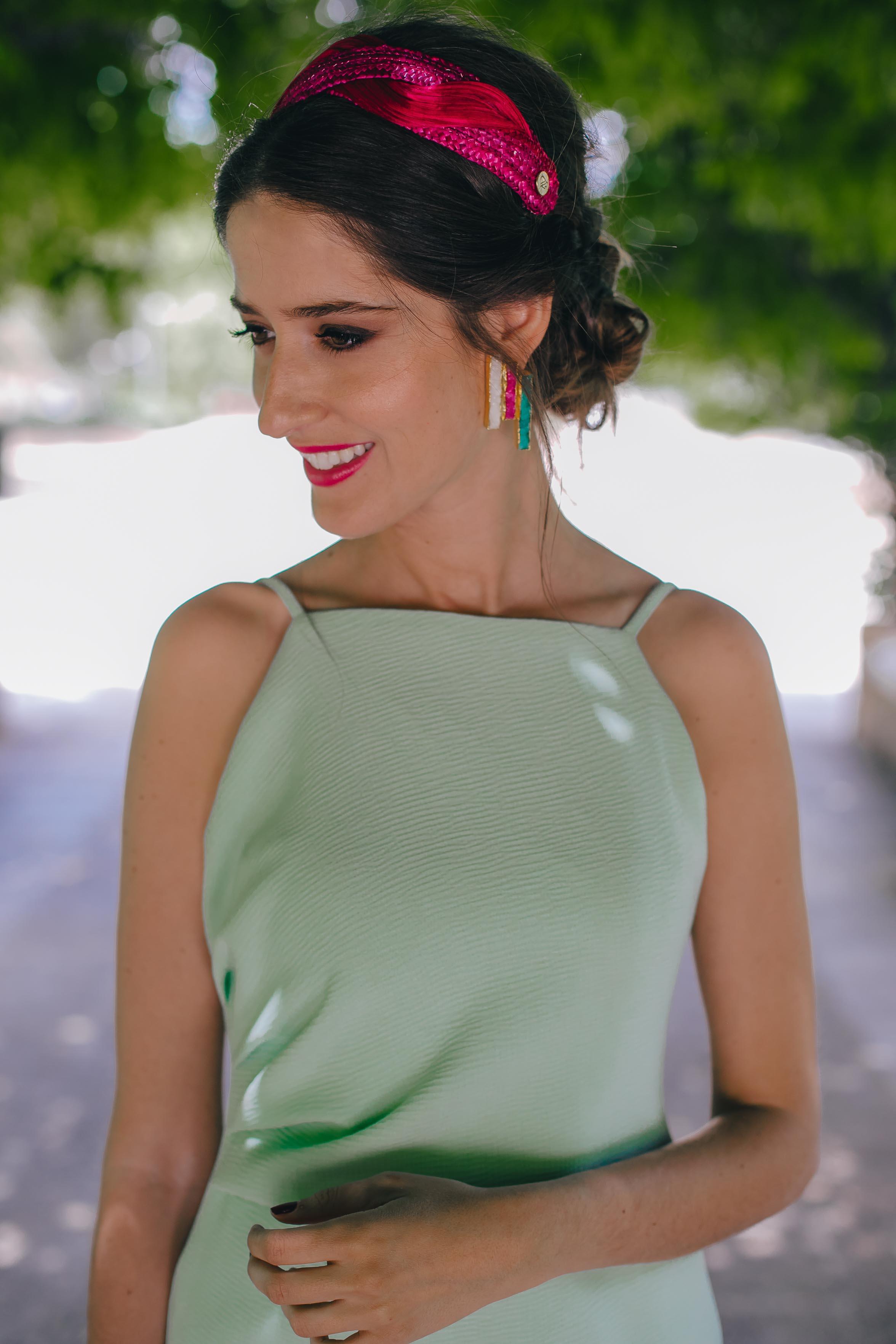 vestido verde agua invitada