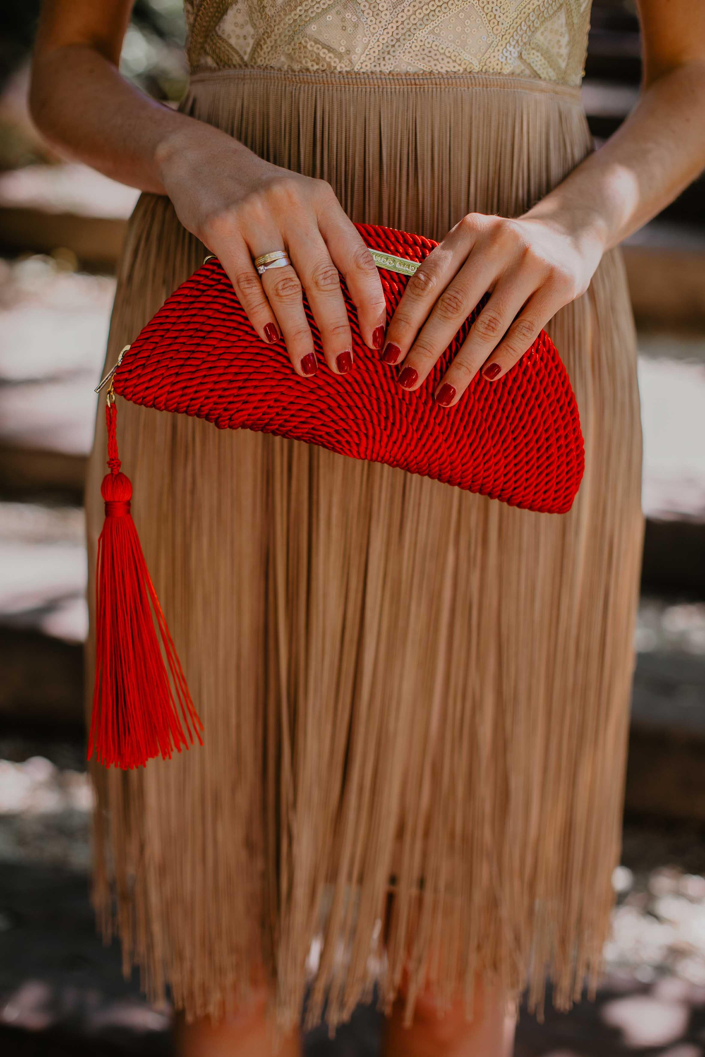 bolso rojo fiesta