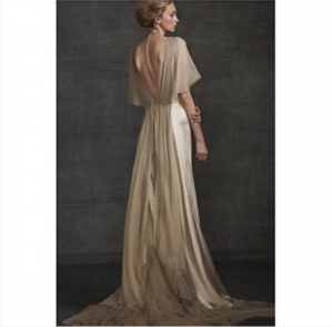 Vestido novia champan Samuelle Couture