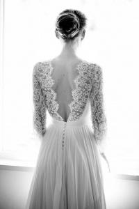 Vestido novia espalda Chantilly Constance Fourier