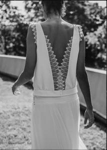 Vestido novia espalda Laure Sagazan