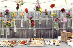 Botellas decorativas para boda