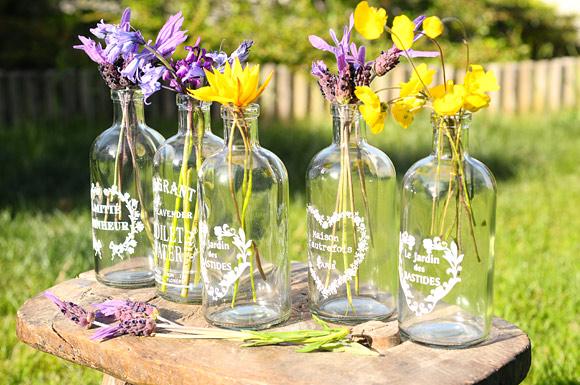 Frascos de cristal para bodas