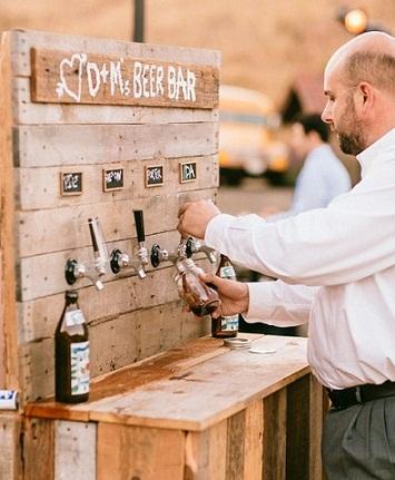 Grifos de cerveza o bebida boda