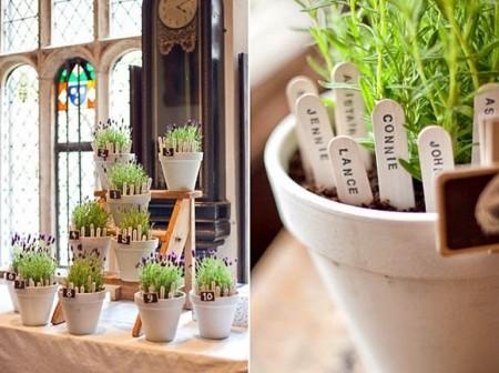 Paneles para colocar invitados en plantas