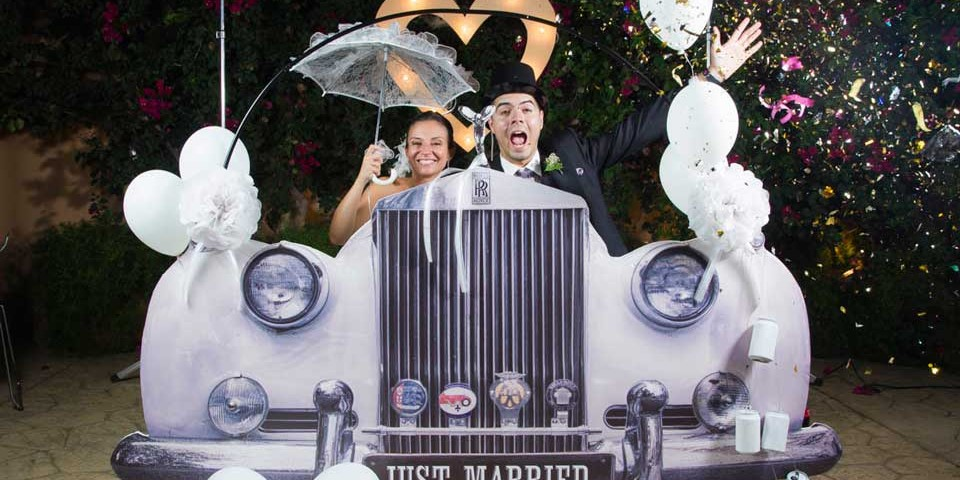 Photobooth bodas coche