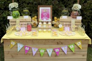 Stand de limonada para boda