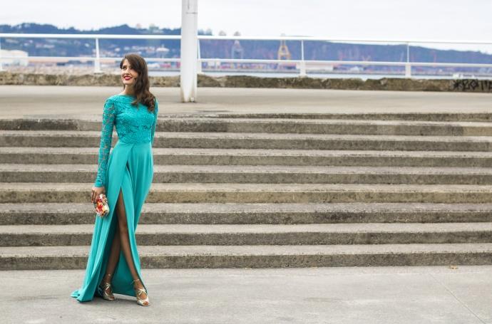 Invitada boda vestido largo atelier Estela Garro