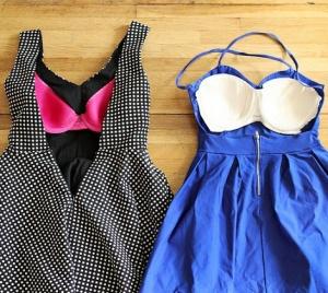 coser copas sujetador vestido espalda