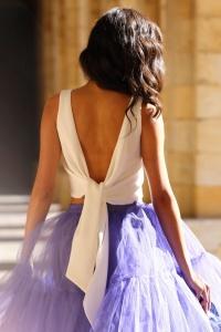 espalda vestido sujetador