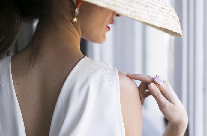 Complementos Look pamela invitada boda nude