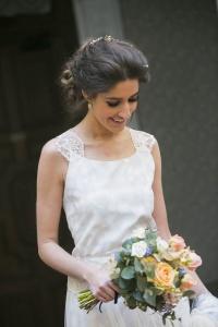 Vestido novia azul Charlotte Daniel