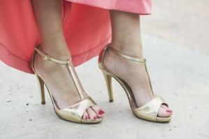 Sandalias doradas boda