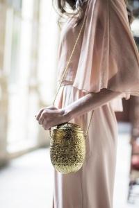 Bolso bombonera dorado
