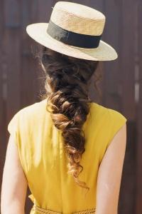 Peinado trenza desecha ancha novia invitada