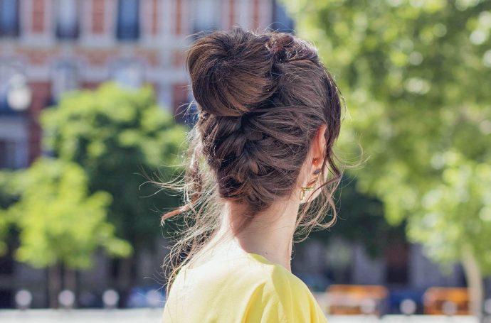 Peinado moño estudiante invitada novia