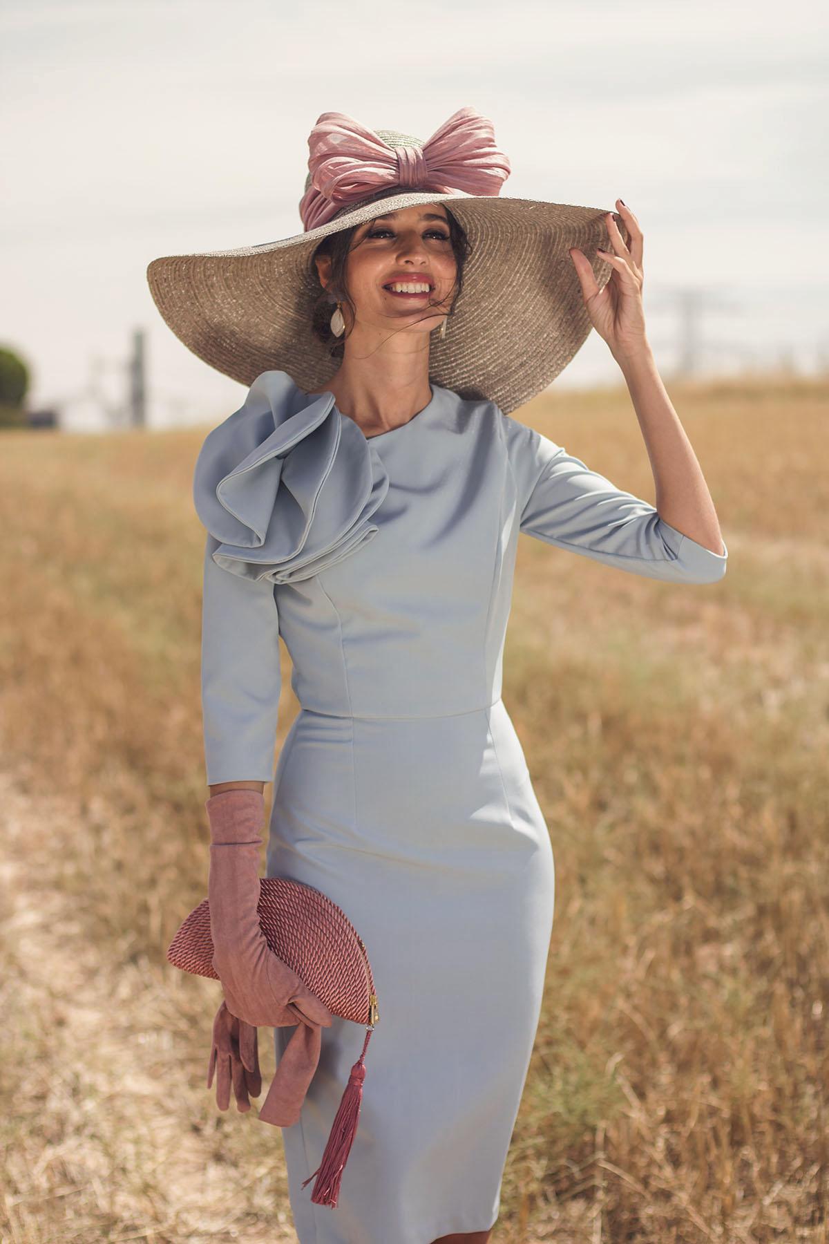 Blancaspina Mañana Boda Con Vestido Invitada De Azul Y H2EWIDY9